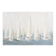 Cuadro Barcos al Oleo Sobre Lienzo 4 x 90 x 60 cm
