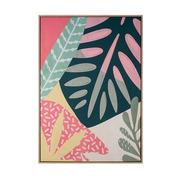 Cuadro Hoja Rosa Verde en Lienzo 4 x 75 x 105 cm