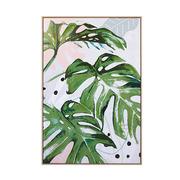 Cuadro Hojas Green en Lienzo 4 x 85 x 125 cm