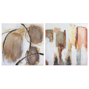 Set 2 Cuadros Oleo Abstractos 4 x 60 x 60 cm