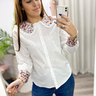 Camisa Blanco Baby Flores