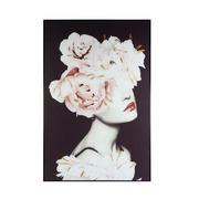 Cuadro Flores en el Pelo Negro 2,5 x 80 x 120 cm