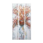 Set 3 Cuadros Tree Oleo en Lienzo 4 x 80 x 150 cm