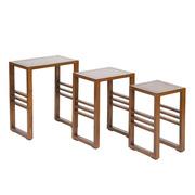 Set 3 Mesas Nido de Madera 30 x 50 x 60 cm