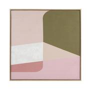 Cuadro Abstracto Verde Rosa en Oleo 4 x 80 x 80 cm