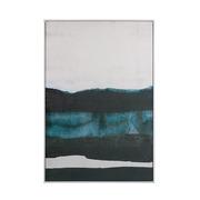Cuadro Abstracto Azul Negro en Oleo 4 x 80 x 120 cm