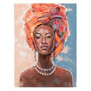 Pintura Africana Oleo en Lienzo 2,8 x 90 x 120 cm