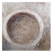Pintura Abstracta Blanco Marrón 3,5 x 100 x 100 cm
