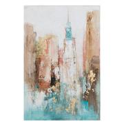 Pintura Ciudad en Lienzo con Bastidor 2,8 x 60 x 90 cm