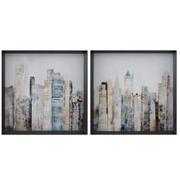 Cuadro Impreso Ciudad en Papel 6 x 63 x 63 cm
