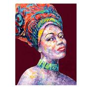 Pintura Africana en Lienzo Multicolor 3,5 x 75 x 100 cm