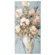 Pintura Jarrón Flores en Lienzo 2,8 x 50 x 100 cm
