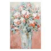 Pintura Jarrón Flores en Lienzo 2,8 x 60 x 90 cm