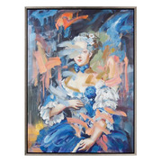 Cuadro Dama Azul Impreso en Lienzo 4 x 91,4 x 122 cm