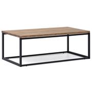 Mesa de Centro iCub U Big Wood Negra efecto vintage estilo industrial Box Furniture
