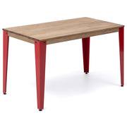 Mesa Industrial Lunds Roja con Patas Inclinadas