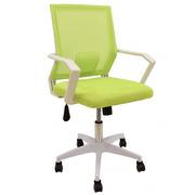 Sillón de Oficina Clent Blanco Basculante Respaldo en Malla Verde