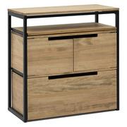 Mueble Multiusos ECO Industrial Estante Superior Cajón con Puertas y Cajón Inferior