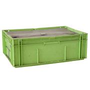 Caja Plástica Usada Galia Odette Verde 39 litros Cerrada con Molde 40 x 60 x 21,4 cm