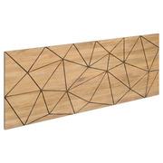 Cabecero para Cama Triangulos de Madera de Pino