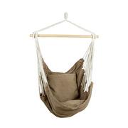 Hamaca Colgar Marrón de Bambú y Textil 130 x 100 x 135 cm