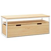 Mueble TV iCub Three Natural con Estante y Cajón Extraíble Doble