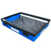 Caja Azul Usada con 4 Asas 59 x 80 x 17,5 cm