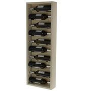 Botellero de Pared Modular 10 Botellas de Madera Blanco