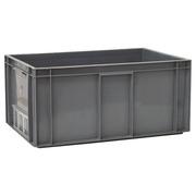Caja Plástica Usada Norma Europa Gris 40 x 60 x 28 cm