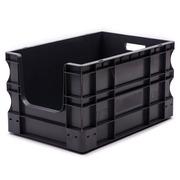 Caja Plástica Gris Frente Abierto 40 x 60 x 33 Ref.SPK 4632OF