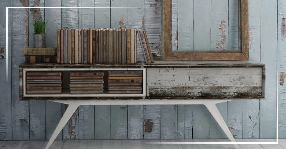 Muebles vintage de madera y metal for Muebles vintage outlet