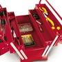 Caja de herramientas metálica en la tienda de cajas con más variedad